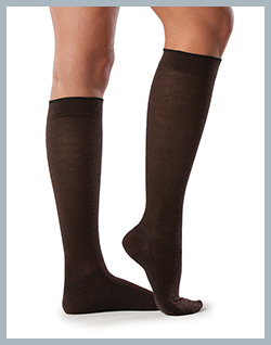 All Season Merino Wool Socks for Men & Women - Women's Brown pictured