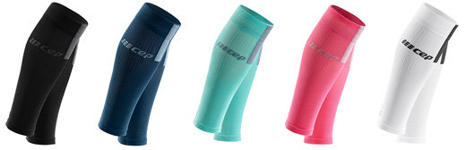 CEP Compression Calf Sleeves 3.0 in 5 colours Black/Dark Grey, Blue/Grey, Ice/Grey, Rose/Light Grey and White/Dark Grey