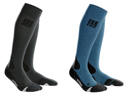 CEP Outdoor Merino Socks showing all 3 available colours
